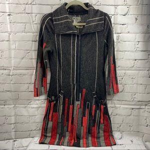Papillon acrylic zippered dress